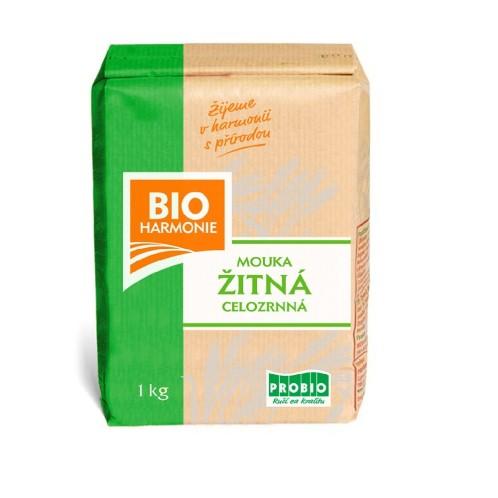 BIO Žitná mouka celozrnná jemně mletá 1kg
