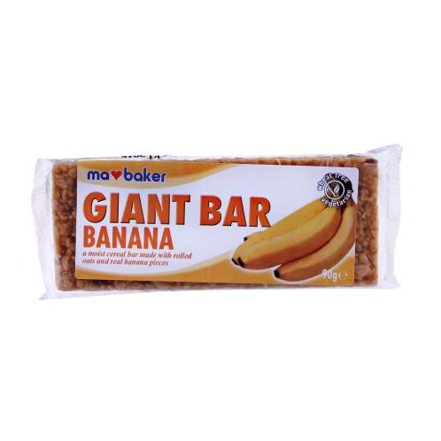 Obří ovesná tyčinka banán MABAKER 90g