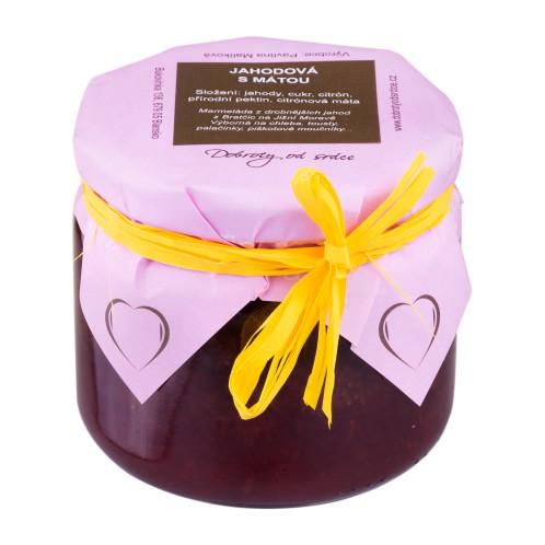 Jahodová marmeláda s mátou 330ml