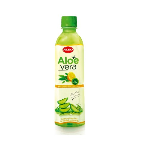 Aloe Vera nápoj se zeleným čajem a citrónem 500ml